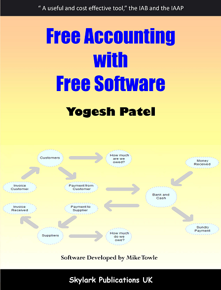 Free Accounting with Free Software book based on Adminsoft Accounts