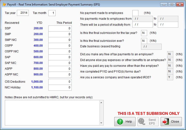 Employer Payment Summary